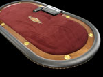 Custom High Roller Texas Hold'em Poker Table With Solid Chiprack