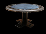 Round Poker Table With Custom Cross Pedestal