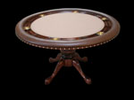 Round Mahogany Poker Table