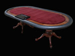 High Roller Texas Hold'em Poker Table With Solid Chiprack