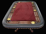 Custom Mahogany Rectangular Poker Table