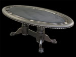 Custom Elipse-Shaped Poker Table