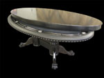 Elipse-Shaped Poker Table With Custom Dining Top